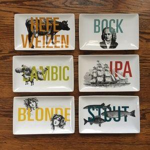 Crate & Barrel Beer Appetizer Plates